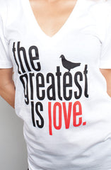 Great Love (Women's White V-Neck)