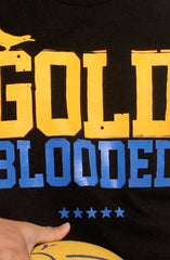 Gold Blooded (Men's Black/Royal Tee)