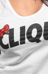 Ashley Vee x Adapt :: Clique (Women's White/Red Tank Top)