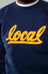 Local II (Men's Navy/Gold Crewneck Sweatshirt)