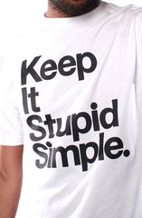 Stupid Simple (Men's White Tee)