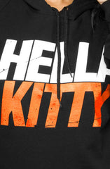 Ashley Vee x Adapt :: Hella Kitty (Women's Black/Orange Hoody)