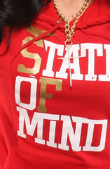 State of Mind (Women's Red/Gold Hoody)
