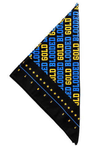 Gold Blooded (Black/Royal Bandana)