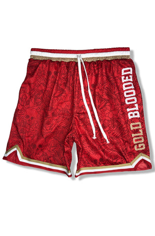 SAVS x Adapt :: Gold Blooded Chiefs (Men's Red Mesh Game Shorts)