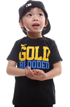 Gold Blooded (Tykes Unisex Black/Royal Tee)