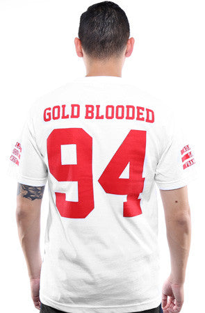 Gold Blooded Legends :: 94 (Men's White Tee)