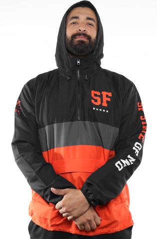 SAVS X Adapt :: State of Mind (Men's Black/Orange Anorak Jacket)