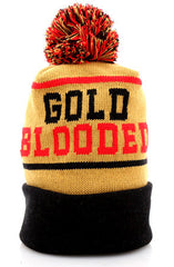 Gold Blooded (Gold/Red Beanie)