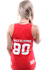 Gold Blooded Legends :: 80 (Women's Red Tank Top)