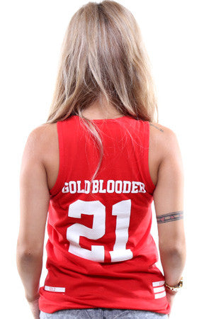 Gold Blooded Legends :: 21 (Women's Red Tank Top)