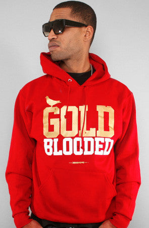 GOLD BLOODED Men's Red Hoody