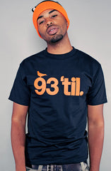 Hieroglyphics X Adapt :: 93 'til (Men's Black/Orange Tee)