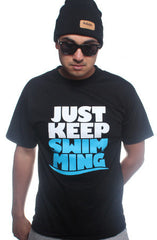 Keep Swimming (Men's Black Tee)
