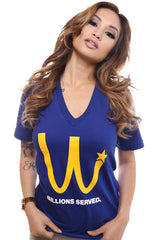 Billions Served (Women's Royal V-Neck)