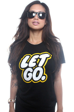 Let Go (Women's Black Tee)