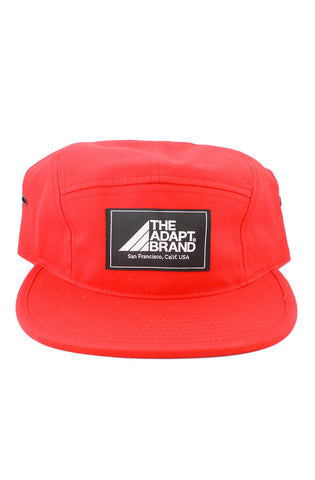 The Adapt Brand (Red 5-Panel Camp Hat)