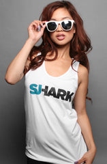 Breezy Excursion X Adapt :: Shark (Women's White Tank Top)