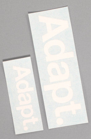 "CTA Vinyl (4"" + 6"" White Sticker 2-Pack)"