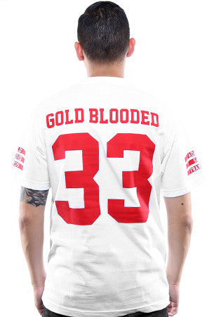 Gold Blooded Legends :: 33 (Men's White Tee)
