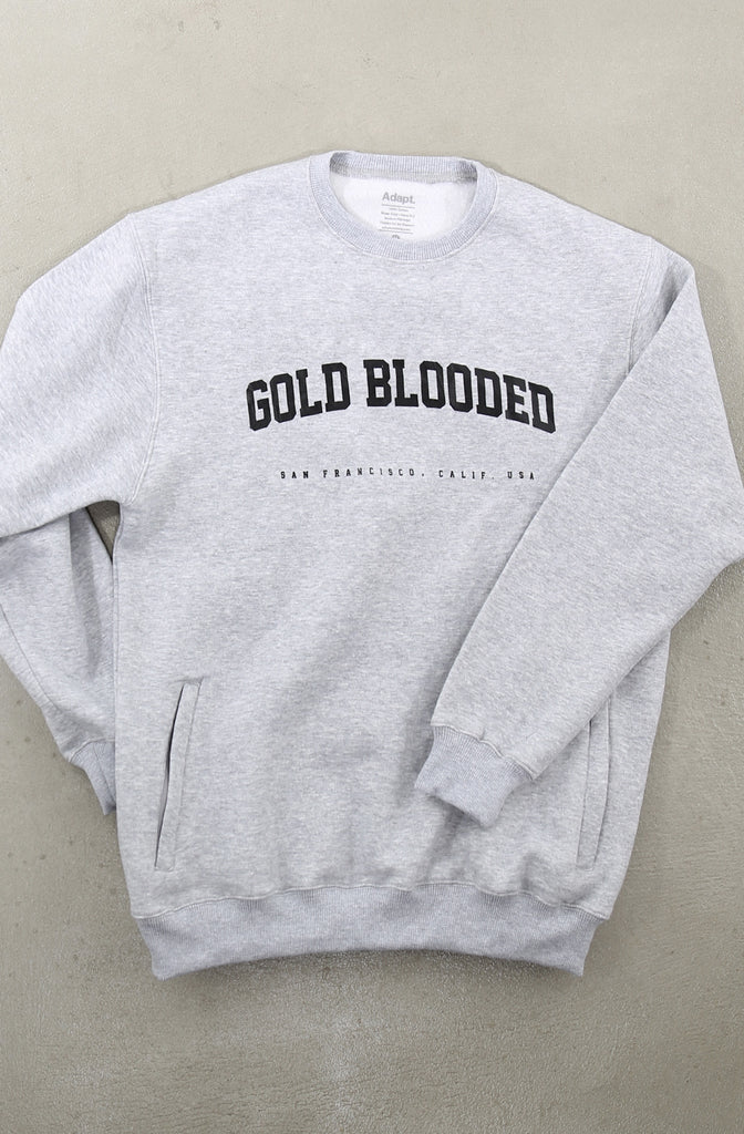 Gold Blooded League (Men's Heather Pocket Crewneck Sweatshirt)