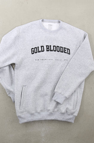 Gold Blooded League (Men's Heather Crewneck Sweatshirt)