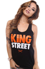 King Street (Women's Black Tank Top)