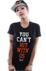 You Can't Hit (Women's Black/Orange Tee)