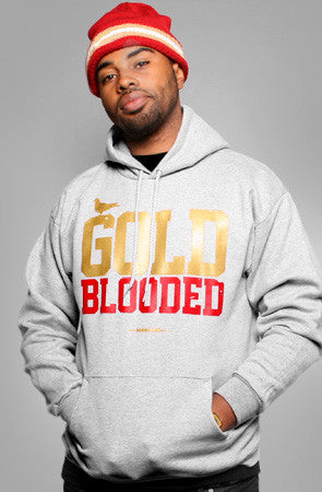 GOLD BLOODED Men's Heather/Red Hoody