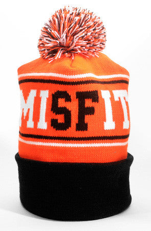 Misfit (Orange/Black Beanie)
