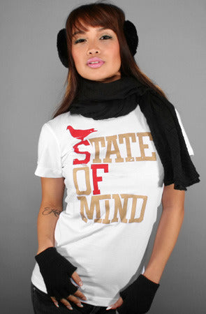 State of Mind (Women's White/Gold Tee)
