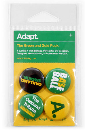 Green and Gold (Button 4-Pack)