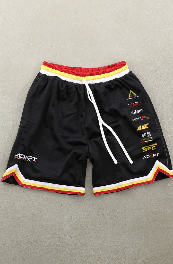 Adapt Motorsports (Men's Black Mesh Game Shorts)