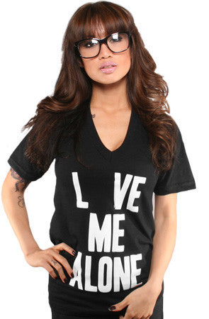 Love and Leave (Women's Black V-Neck)