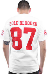 Gold Blooded Legends :: 87 (Men's White Tee)