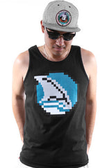 Booger Kids X Adapt :: 8-Bit Fin (Men's Black Tank)