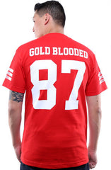 Gold Blooded Legends :: 87 (Men's Red Tee)