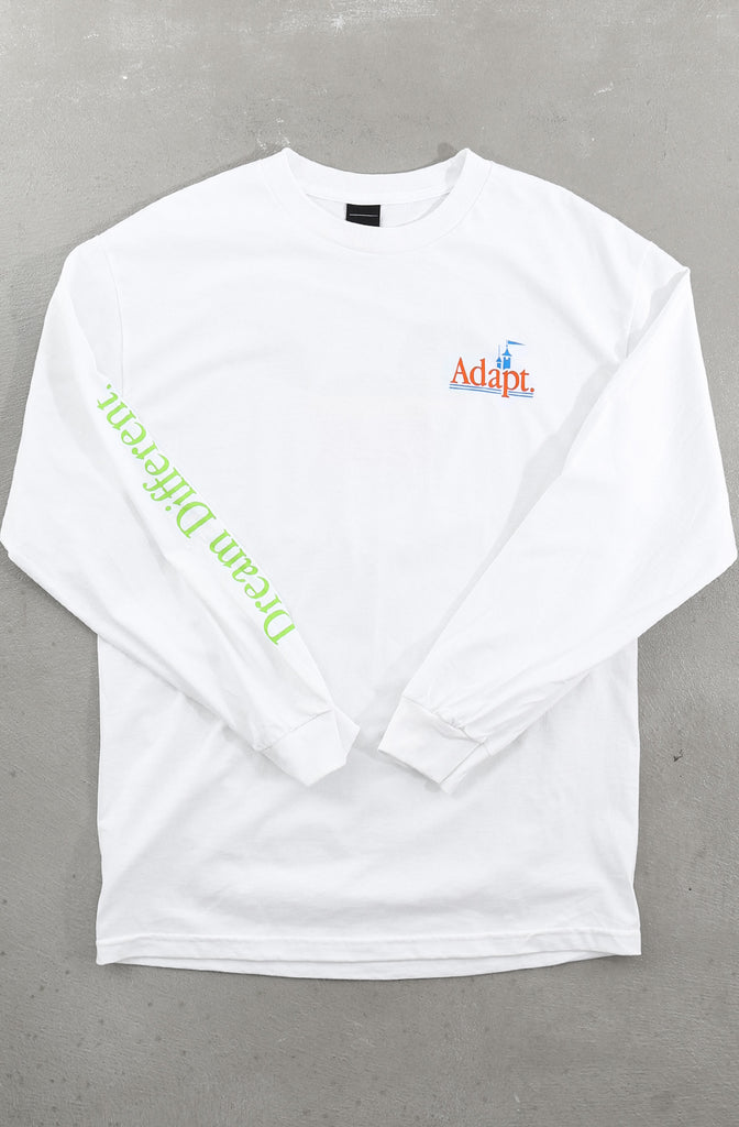 Dream Different (Men's White Long Sleeve Tee)