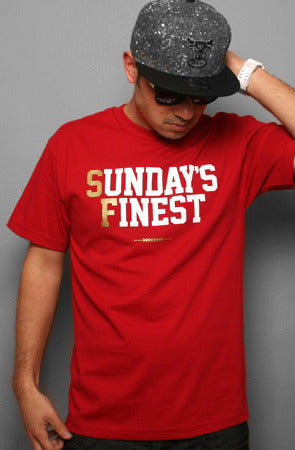 Sunday's Finest (Men's Cardinal/Gold Tee)