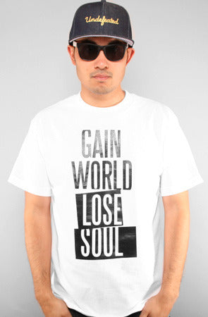 Gain World (Men's White Tee)