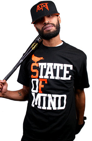 State of Mind (Men's Black/Orange Tee)