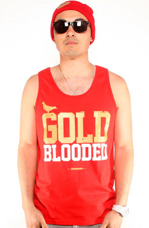 Gold Blooded (Men's Red/Gold Tank)