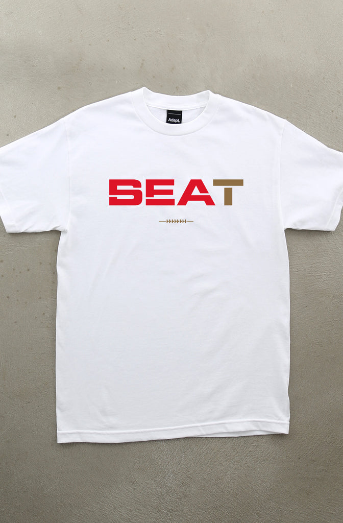 Beat SEA (Men's White Tee)