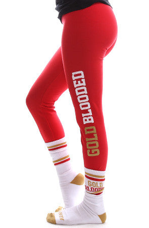 GOLD BLOODED Women's Red Leggings
