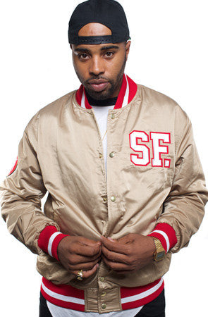 Gold Blooded (Men's Gold Satin Jacket)