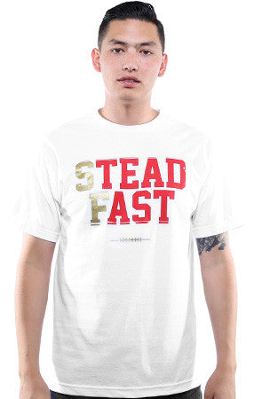 Steadfast (Men's White/Gold Tee)