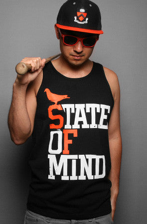 State of Mind (Men's Black/Orange Tank)