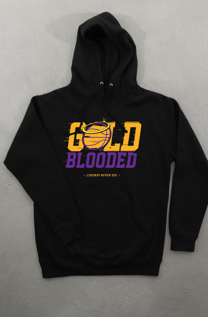 Gold Blooded Halo (Men's Black Hoody)