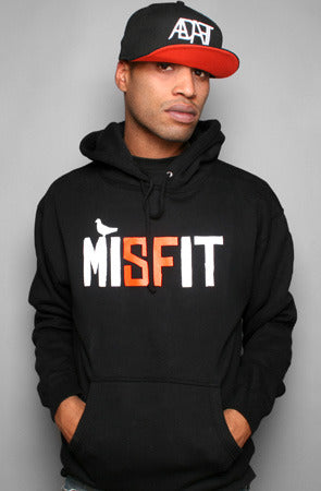 Misfit (Men's Black/Orange Hoody)