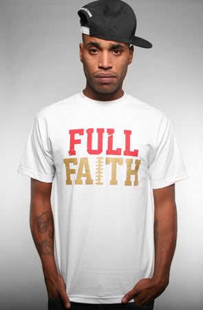 Full Faith (Men's White Tee)